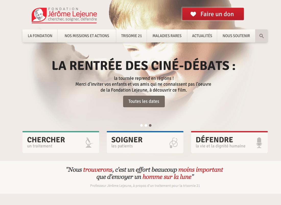 Webseitenübersetzung für das Institut Jérome Lejeune