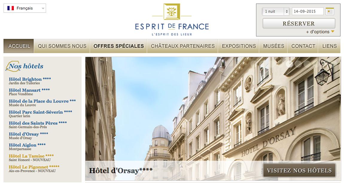 Touristische Übersetzung Esprit de France