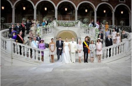 Fürstliche Hochzeit in Monaco