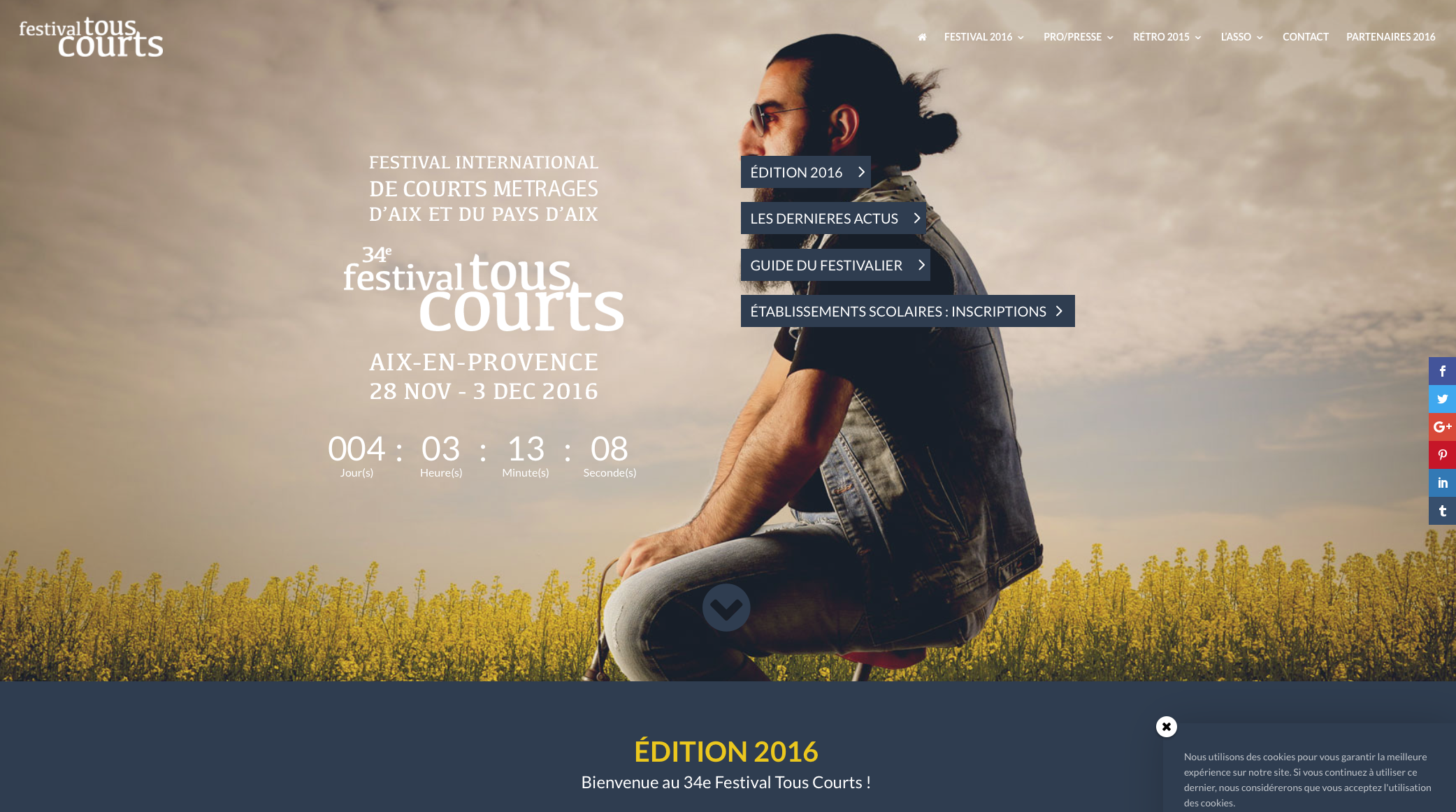 Atenao übersetzt für das Festival Tous Courts